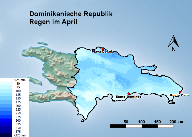 Dominikanische Republik Regen im April