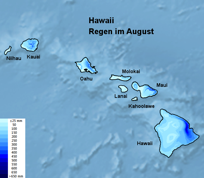Hawaii Regen im August