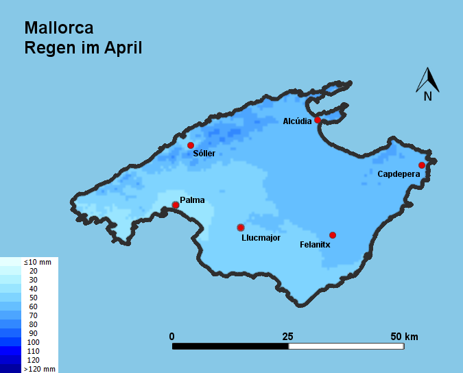 Mallorca Regen im April